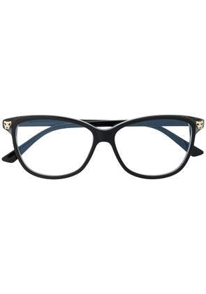 Cartier Eyewear Panthère rectangular frame glasses - Black
