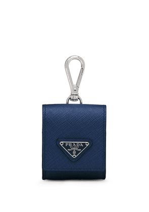 Prada Saffiano Trick earphone holder - Blue