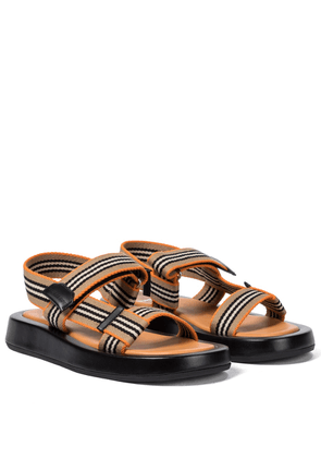 Icon Stripe canvas sandals