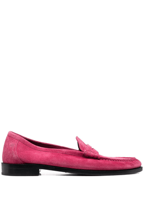 Saint Laurent suede penny loafers - Pink