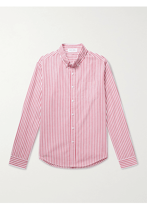 ALEX MILL - Standard Button-Down Collar Striped BCI Cotton Shirt - Men - Red - XS