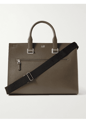 DUNHILL - Cadogan Leather Briefcase - Men - Green