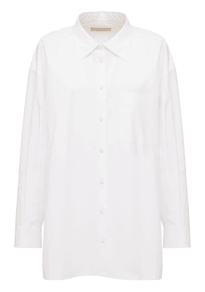 Cotton Poplin Long Shirt