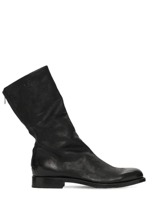 Zip Leather Long Boots