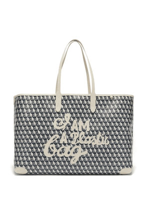 Anya Hindmarch - I Am A Plastic Bag Recycled-canvas Tote Bag - Womens - Grey White