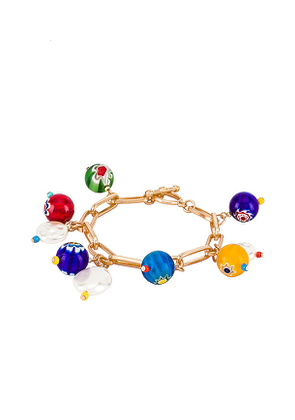 8 Other Reasons Charm Bracelet in Metallic Gold.
