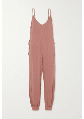 Eberjey - Finley Tie-detailed Stretch-jersey Jumpsuit - Brown