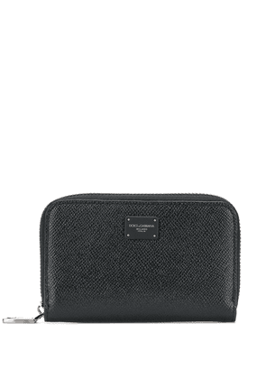 Dolce & Gabbana logo patch continental wallet - Black