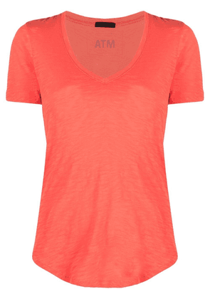 Atm Anthony Thomas Melillo V-neck cotton T-shirt - Orange