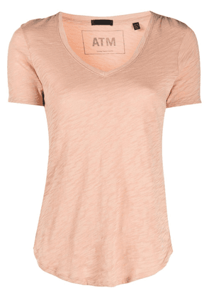 Atm Anthony Thomas Melillo V-neck cotton T-shirt - Neutrals