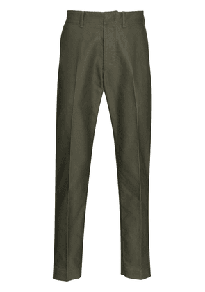 TOM FORD high-rise tailored trousers - Green