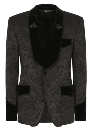 Dolce & Gabbana floral jacquard single-breasted blazer - Black