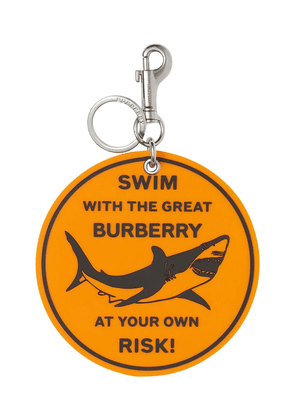 Burberry shark graphic keyring - Orange