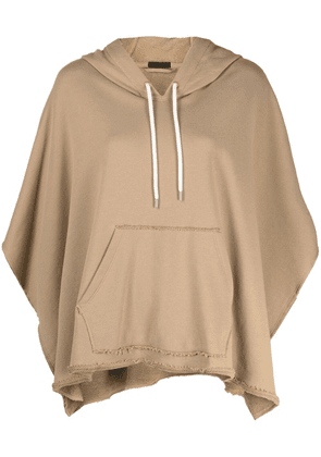 Atm Anthony Thomas Melillo raw-cut edge cotton hoodie - Neutrals