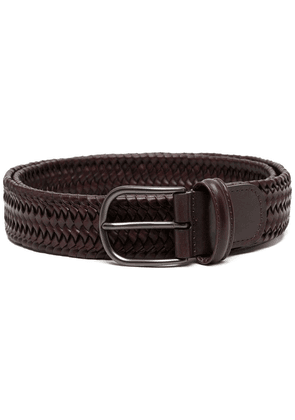 Anderson's interwoven leather belt - Brown
