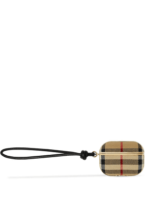 Burberry check-print AirPods Pro case - Neutrals