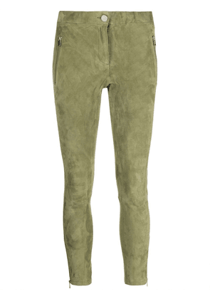 Arma cropped suede trousers - Green