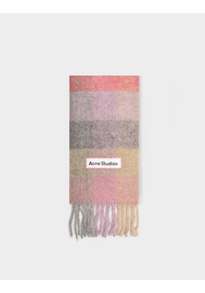 Acne Studios Vally Scarf in Fuchsia, Lilac and Pink Alpaca Wool