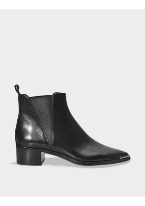 Acne Studios Jensen Ankle Boots in Black Calf Leather