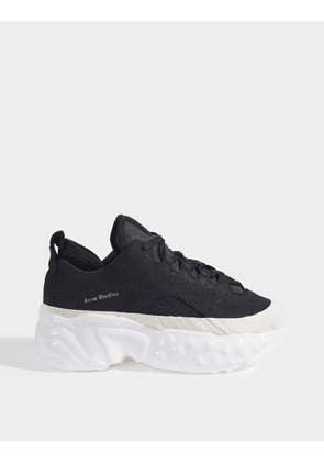 Acne Studios Manhattan Dip Sneakers in Black and White Polyester