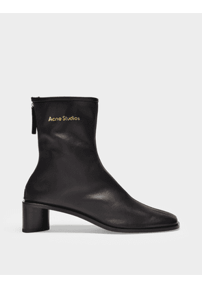 Acne Studios Ankle Boots Bertine in Black Leather
