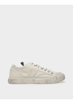 Acne Studios Ballow Tumbled W Sneakers in Off White Canvas