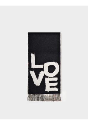 Burberry Love Gnt Chk Cs Scarf in Black Cashmere