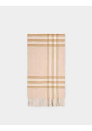 Burberry Giant Check Cs Scarf in Pink Pale Blush Cashmere