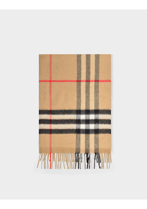 Burberry Giant Check Cs Scarf in Archive Beige Cashmere