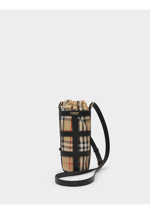 Burberry Water Bottle holder in Black Leather