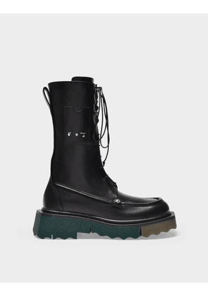 Off-White Sponge Pocket Combat Boot in Black