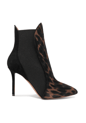 Alaïa 90mm Leopard-print Calf Hair And Suede Ankle Boots Woman Animal print Size 35