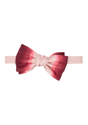 Alexander McQueen Pink and Red Silk Dip-Dye Bow Tie