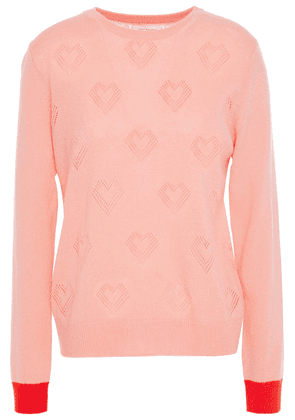 Chinti & Parker Pointelle-knit Wool And Cashmere-blend Sweater Woman Blush Size M