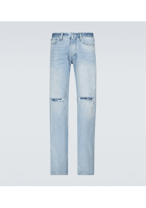 Diagonal Stripe relaxed-fit jeans
