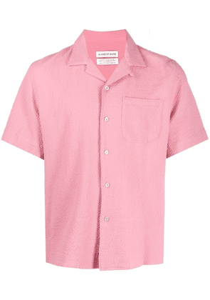 A Kind of Guise leno-weave short-sleeve shirt - Pink
