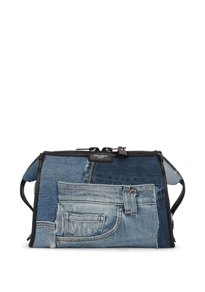 Dolce & Gabbana Edge denim patchwork shoulder bag - Blue