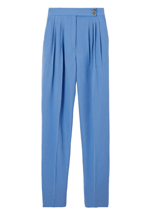 Burberry pleated high-waist trousers - Blue