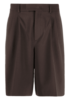 Valentino side panel tailored shorts - Brown