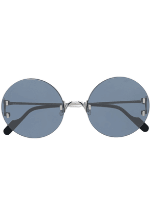 Cartier Eyewear C Décor round-frame sunglasses - Blue