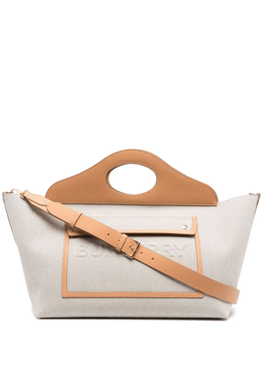 Burberry pocket-detail tote bag - Neutrals