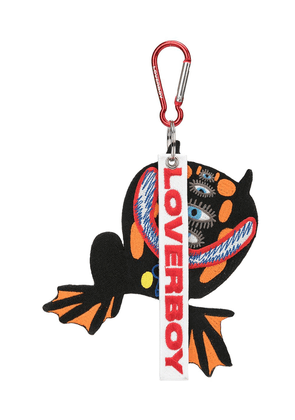 Charles Jeffrey Loverboy frog embroidered keyring - Black