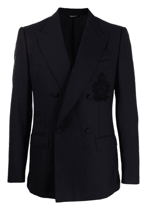 Dolce & Gabbana peak-lapel double-breasted blazer - Blue