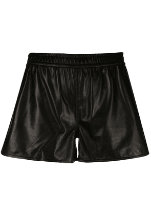 Rag & Bone elasticated-waist leather shorts - Black
