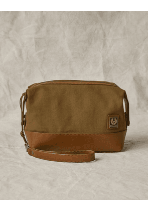 Belstaff Kit Canvas Wash Bag Beige