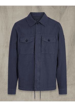 Belstaff Recon Twill Overshirt Blue UK 40 /