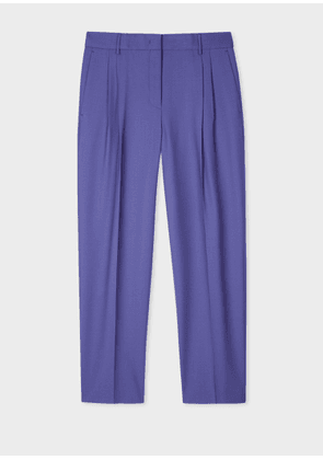 A Suit To Travel In - Women's Tailored-Fit Lilac Wool Trousers