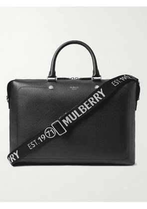 MULBERRY - City Full-Grain Leather Briefcase - Men - Black