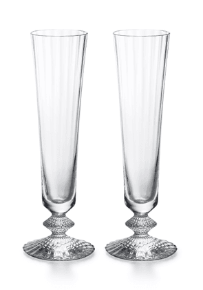 Baccarat - Set-Of-Two Mille Nuits Champagne Flutes   - Color: White - Material: crystal - Moda Operandi