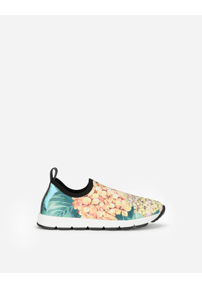 Dolce & Gabbana Shoes (24-38) - Sorrento slip-on sneakers with hydrangea print MULTICOLOR female 24